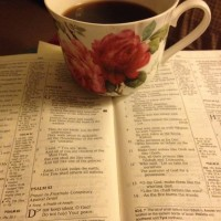 Bible, hellomornings, coffee,