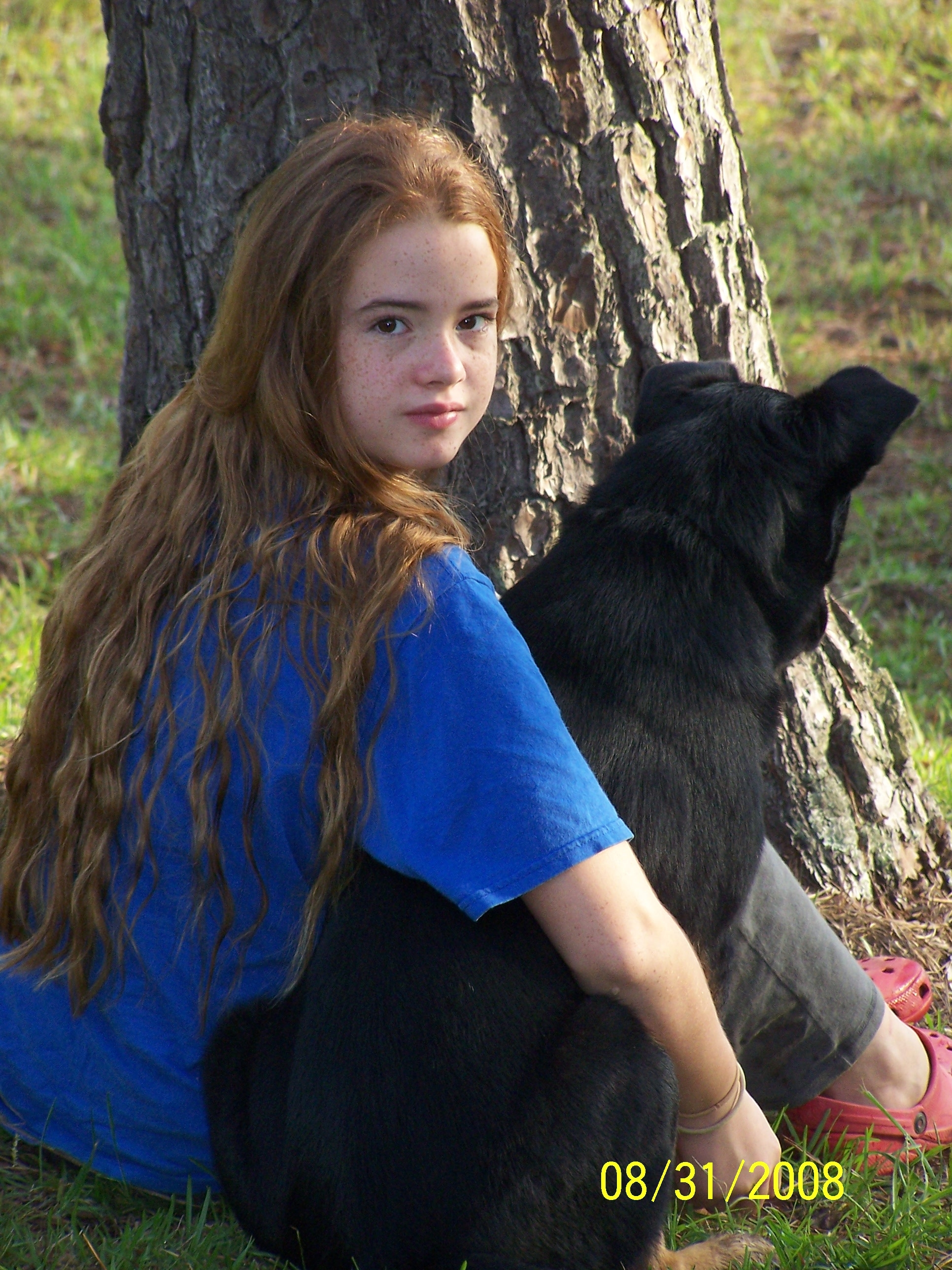 maddie with dog