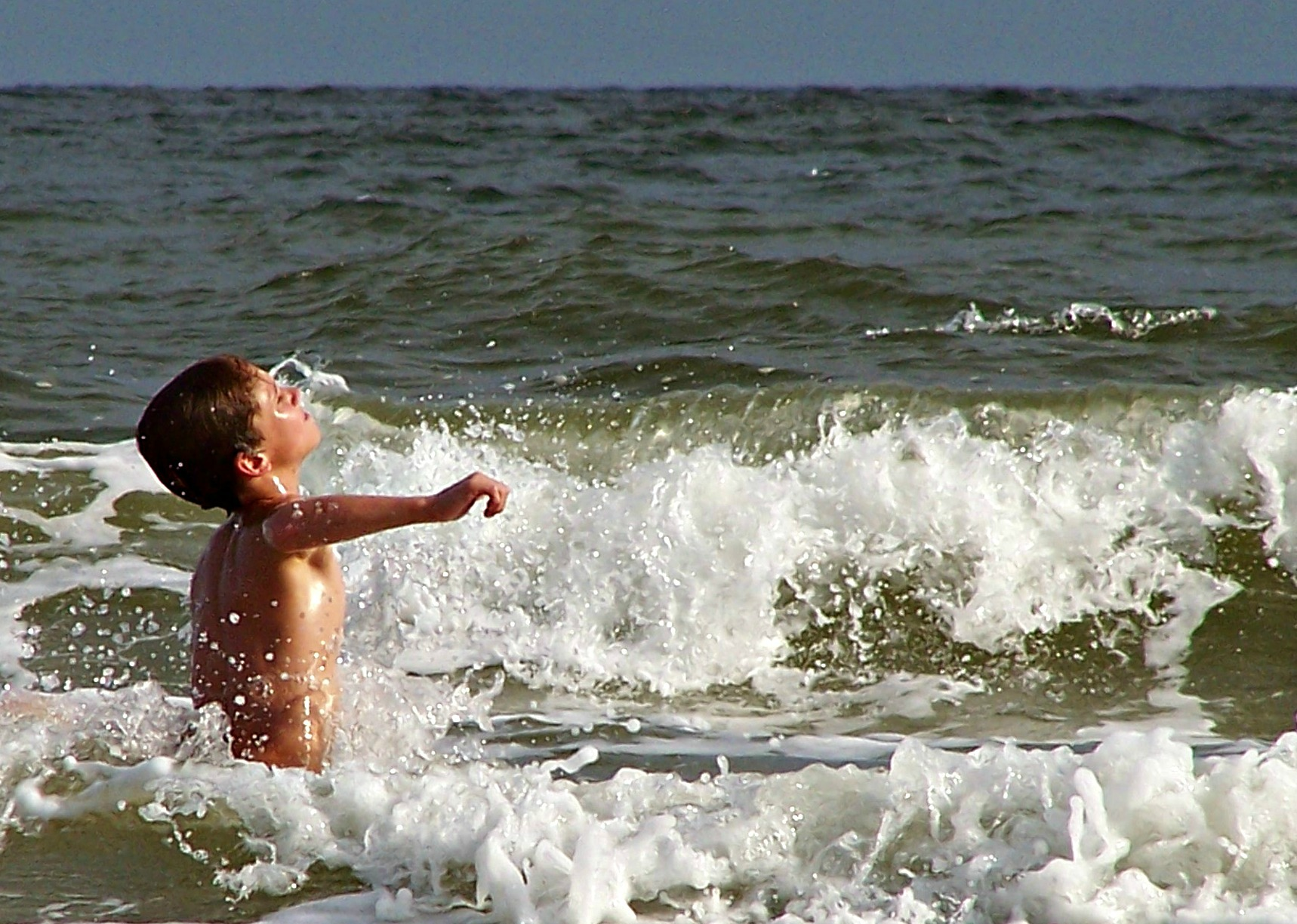 caleb in waves