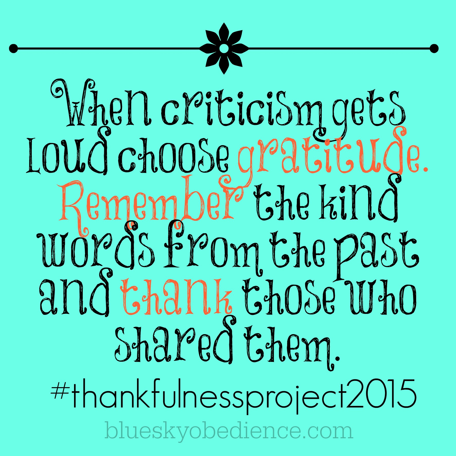 Thankfulness Project