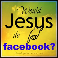 Would Jesus do facebook