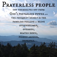 Prayer, power, Great Smokey Mountains, Bill Hybels