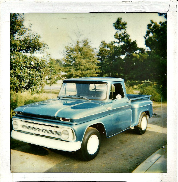 65 Chevy, Wild and Blue, old trucks