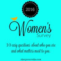 women, survey, women's ministry