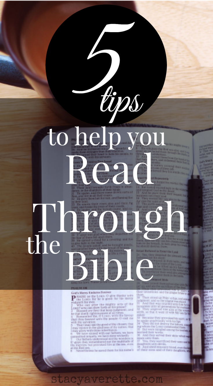 Have you set a goal of reading through the Bible? Me, too! Nothing has changed my life more than consistently reading God's Word.