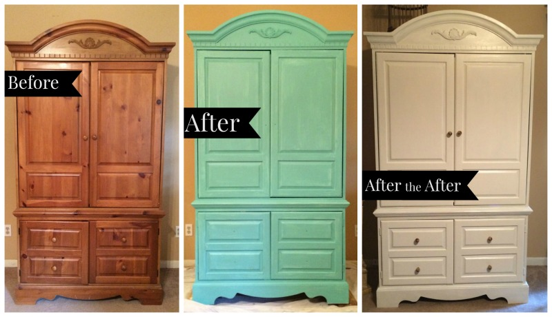 DIY PAINTED ARMOIRE + DECORATING BY HEART - Stacy Averette
