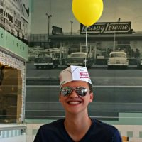 Caleb at Krispy Kreme