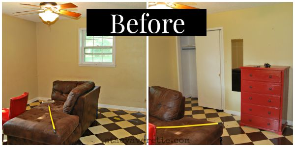 boy's room,, before and after