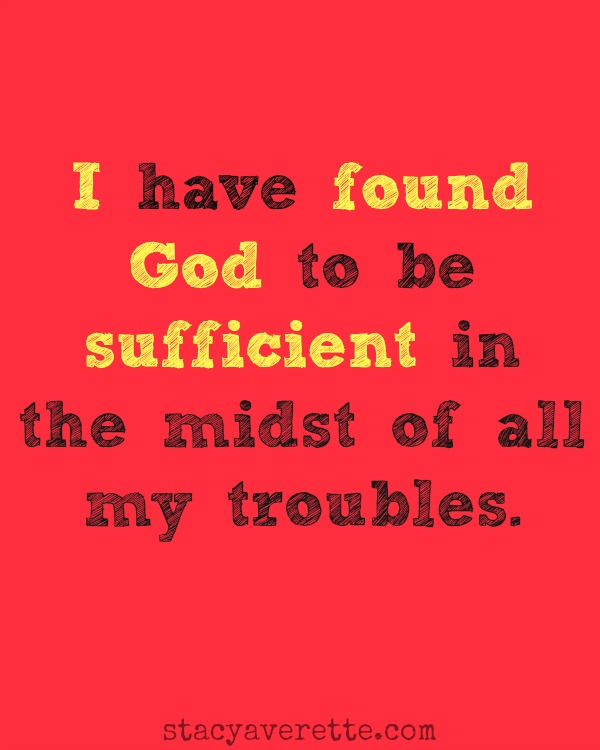 God is sufficent red