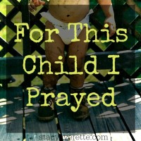 Praying for a child