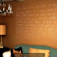 DIY wall art, chalk art