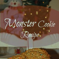 monster cookies square