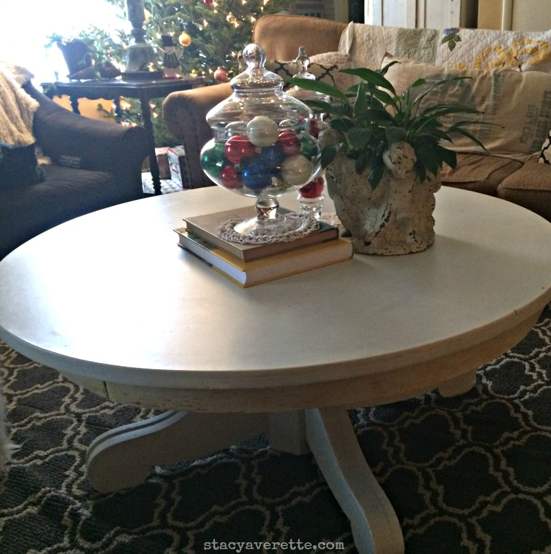 DIY, round coffee table, chalk paint coffee table, chalk paint recipe