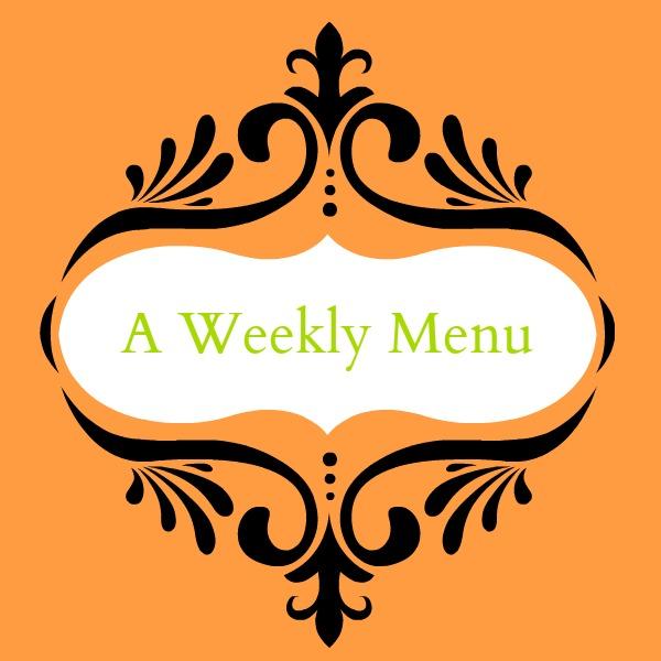 Week's Menu #5 ~ November 9-13