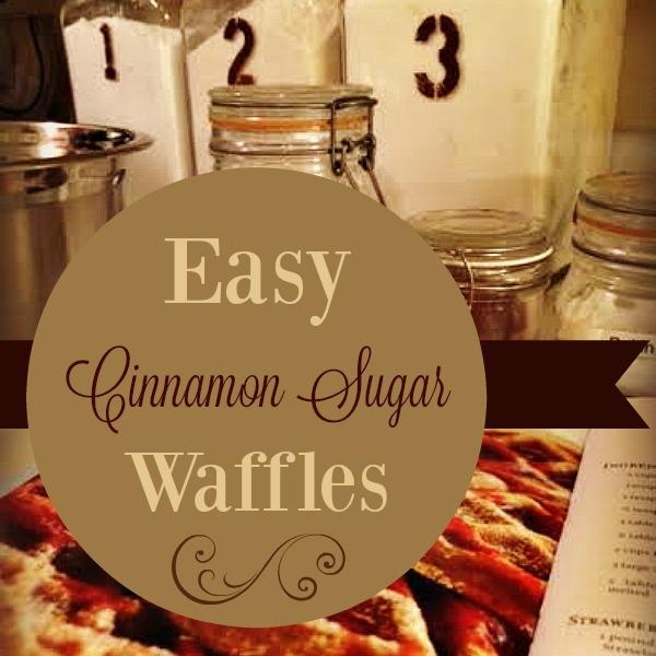 Easy {Cinnamon Sugar} Waffles